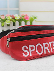 Men-Formal-PVC-Waist Bag-Red / Gray