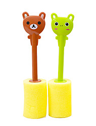 (Color random)1 PCS cartoon cute Tableware clean cup brush sponge brush kitchen cleaner tool home brushes Cleaning