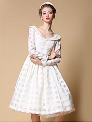 Pour My Fair Lady® Femme Col de Chemise Manche Longues Au dessus des genoux Robes-1501068