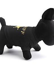 Gatos / Perros Camiseta Negro / Marrón Café Verano / Primavera/Otoño Flores / Botánica Moda-Other, Dog Clothes / Dog Clothing