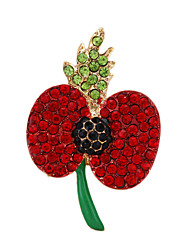 Europe and America Fashion Poppy Brooches for Women