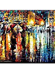 Peint à la main Paysage Peintures à l'huile,Style / Modern / Classique / Traditionnel / Réalisme / Méditerranéen / Pastoral / Style
