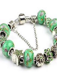 Green Fine Styly Beads Strand Bracelet with Beautiful Pendant Charm Bracelet