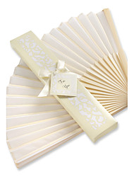 Beter Gifts®Recipient Gifts - 1Piece/Set, Bachelorette Silk Hand Fan in White Giftbox, Ladies Night Out Essentials