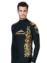 SBART Homme Combinaisons Tenue de plongée Compression Costumes humides 1.5 à 1.9 mm Or M / L / XL / XXL / XXXL / XXXXL Plongée