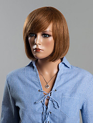 Youthful Bob Hairstyle Capless Human Hair Wig