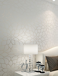 Non-woven Fresh Lotus Living Roon Bedroon Decor Wallpaper Flocking Murals of Wall Paper Roll
