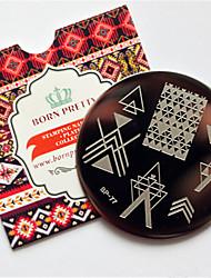 Nail Art Stamping Placa Stamper raspador 6*6*0.1