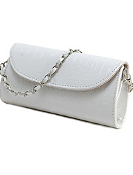 Women PU Casual / Event/Party Evening Bag White / Black
