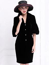 Pour My Fair Lady® Femme Col en V Manches 1/2 Au dessus des genoux Robes-1502023