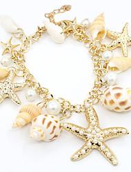 Bracelet Charmes pour Bracelets Alliage / Imitation de perle / Strass / Coquillage Mariage / Soirée / Quotidien / Décontracté Bijoux