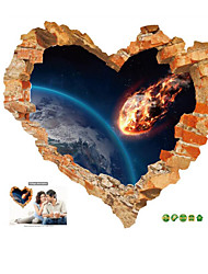 Imitation 3D Wall Stickers Creative Love Rupture