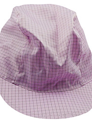 Anti-static Grid Cap Antistatic Coolie Hat 12-1G Japanese Anti-static Cap (pink, grid 0.5)
