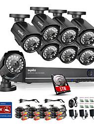 Цилиндрические камера - CCTV DRV KIT ( 8 каналов , 1 канала ) - Детская комната/Задний двор/Входная дверь/Гараж