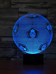 Football Shape 3D Illusion Night Light 7Colors Changeable for Bedroom Decoration Color-Changing Night Light
