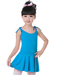 Ballet Dresses Children's Fashion Training Cotton Bow(s) Sleeveless Natural Dress Kid's Dance Costumes