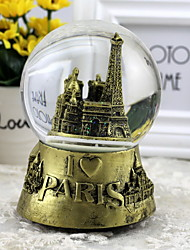 The Eiffel Tower Rotate Snowflake Crystal Ball Creative Music Box