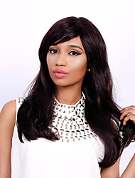 Long Natural Wave Side Bang Fashion Human Hair Wig For Women