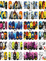 12 Designs Nail Art Halloween Skull Ghost Colorful Interesting Image Nail Beauty A1081-1092