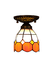 Orange  Mediterranean for Tiffany Ceiling Lamp