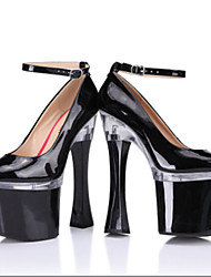 Women's Shoes Patent Leather Heels Heels Wedding/Party & Evening Stiletto Heel Buckle Black/Red/White
