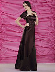 Women's Wrap Shrugs Short Sleeve Satin Chocolate Wedding / Party/Evening / Casual Scoop 39cm Draped Open Front