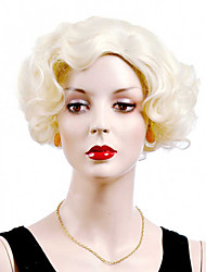 Sexy Short Style Blonde Color Capless Synthetic Wigs