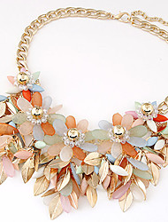 Necklace Statement Necklaces Jewelry Party Fashion Alloy / Resin Beige / Black / Blue / Orange 1pc Gift