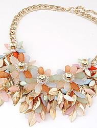 Women's Statement Necklaces Resin Alloy Fashion Black Orange Beige Blue Rainbow Jewelry Party 1pc