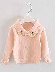 Mädchen Bluse / Pullover & Cardigan-Ausgehen einfarbig Baumwolle Frühling / Herbst Rosa / Gelb / Beige
