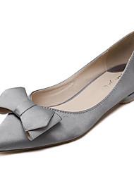 Черный / Серый-Женский-Для прогулок-Дерматин-На плоской подошве-На плокой подошве-На плокой подошве