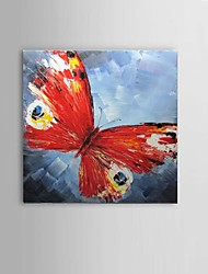 Hand-Painted Abstract Modern Thick Butterfly Oil Painting On Canvas One Panel With Frame Ready To Hang