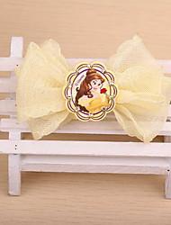 disney pince à cheveux de tissu arc korean fille fleur