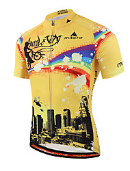 Miloto Cycling Jersey Men's Short Sleeve BikeBreathable Quick Dry Moisture Permeability Front Zipper Sweat-wicking Soft YKK Zipper
