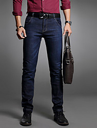 Men's Solid Work JeansCotton Blue