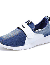 Men's Sneakers Spring Fall Comfort Canvas Outdoor Casual Low Heel Hook & Loop Blue