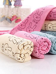 Fiber Cartoon Printed Rabbit Head Towels
