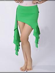 Latin Dance Bottoms Women's Performance Polyester Draped 1 Piece Belly Dance Sleeveless Natural Hip Scarf