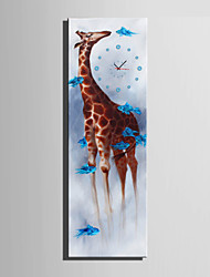 E-HOME® Giraffe Clock in Canvas 1pcs