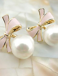 Drop Earrings Pearl Alloy Fashion Adjustable Circle Jewelry White Black Blue Pink Jewelry Daily Casual 1set