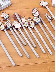 Korea Lovely Cartoon Shape Pen Little Lamb Gel Pen Creative Stationery For Children