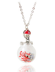 Necklace Pendant Necklaces Jewelry Wedding Fashionable Alloy Red / Pink 1pc Gift