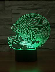 регби шлем касания затемнением 3D LED свет ночи 7colorful украшения атмосфера новизны светильника освещения свет рождества