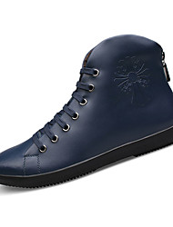 Men's Boots Winter Comfort Cowhide Casual Platform Black / Blue Others