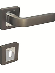 Door Lever Handleset Door handle with Key Hole Escutchoen Brush Ti and Chrome Color Black