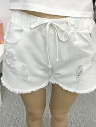 Pantalon Aux femmes Short / Jeans / Chino simple Polyester Micro-élastique