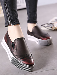 Women's Loafers & Slip-Ons Fall Creepers PU Casual Platform Others Red / Silver Others