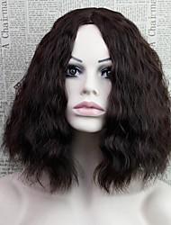 moda 2016curly curto beleza sexy celebridade diária natural, usando perucas sintéticas
