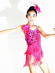 Echarpe de Danse du Ventre(Vert pomme / Rose,Elasthanne / Polyester / Paillété,Danse latine)Danse latine- pourFemme / Enfant