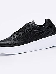 Damen-Sneaker-Sportlich-PU-Flacher Absatz-Komfort-Schwarz / Weiß